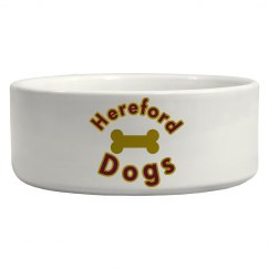 ceramic Hereford dog bowl