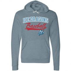 #31 Unisex Hoodie-Bella Brand-Slate Blue with red