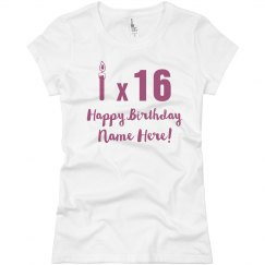 Candle Times 16 Custom Birthday Tee