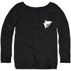 Women's Soft tri-Blend Logo Wide-Neck Sweatshirt