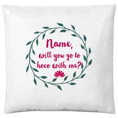 Custom Hoco Vine Pillow