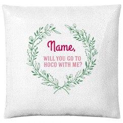 Custom Name Hoco Sequin Pillow