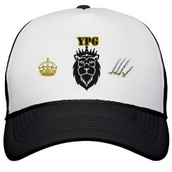 YPG YUNGBEA$T PROMO BLACK&GOLD TRUCKER SNAPBACK