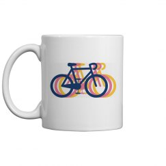 Tri Color Bike Mug