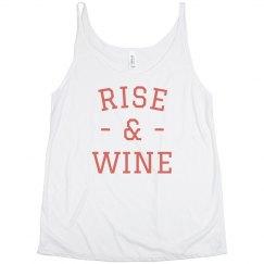 Rise & Wine Split Tank