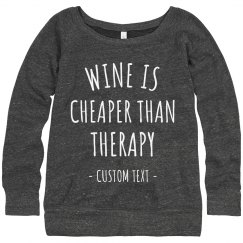 Customizable Funny Wine Sweater