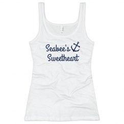 Simple Trendy Navy Sweet Heart