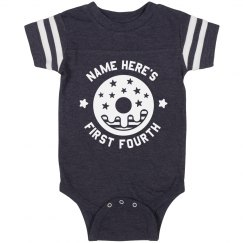 Custom First Fourth Onesie
