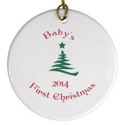 Baby's first ornament