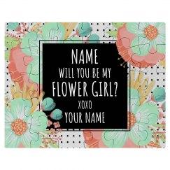 Flower Girl Unique Custom Gift