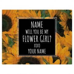 Custom Flower Girl Puzzle Gift