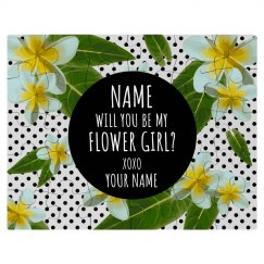Custom Flower Girl Proposal Puzzle
