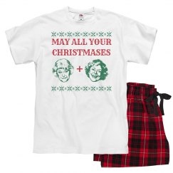 Funny Golden Girls Christmas Jammies