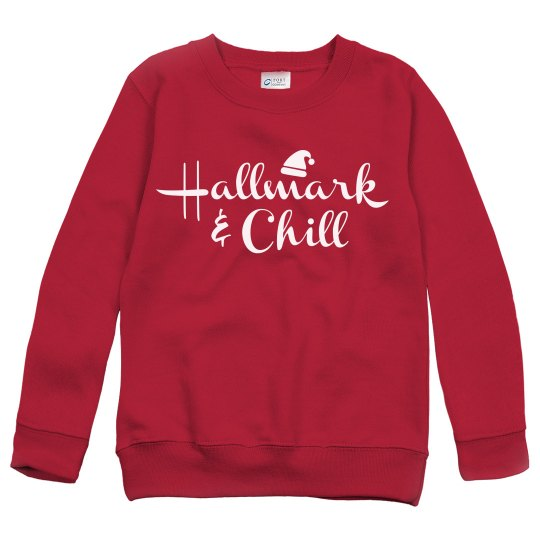 7c5e1442b16f Hallmark Christmas Movies Sweater Youth Heavy Blend Crewneck Sweatshirt
