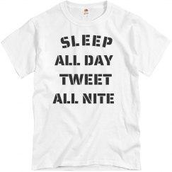 Sleep and tweet