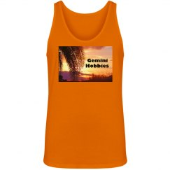 Gemini Hobbies Unisex Orange Tank Top