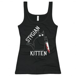 Stygian Kitten Tank Top 2