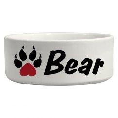 Bear, Dog Bowl