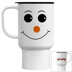 Be Happy Smiley Travel Mug