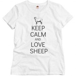 Keep calm love sheep