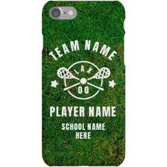 Custom Lacrosse Player Phone