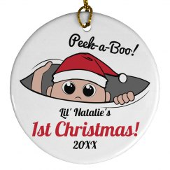 Custom Baby's First Christmas With Custom Text