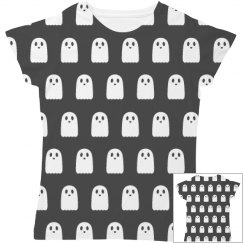 Kawaii Ghosts All Over Print