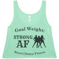 Strong AF - Flowy Boxy Cropped Tank