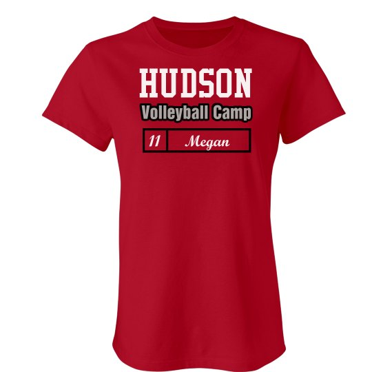 8086ba628 Hudson Volleyball Camp Ladies Slim Fit Favorite T-Shirt