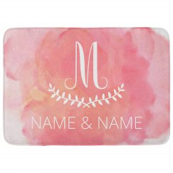 Custom Initial & Names Watercolor