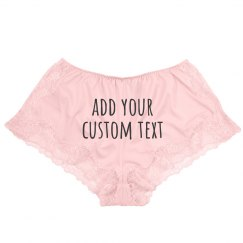 Create your Custom Lace Lingerie Underwear