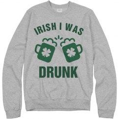 Irish I Was Drunk St Patrick Day