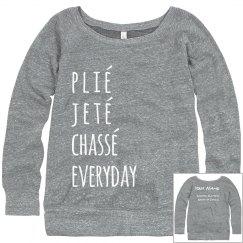 Plie Jete Chasse sweatshirt