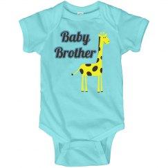 Baby brother giraffe