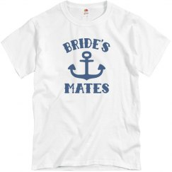 Mens Bride's Mates Wedding Party Tee