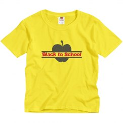Black to School Youth Tee