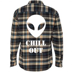 Chill Out Alien Flannel