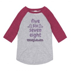 Youth Five Six Seven Eight 3/4 Sleeve