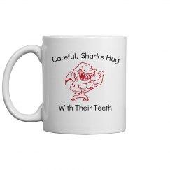 sharks hug with teeth