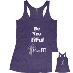 KimFIT BE You tiFul  Yoga Racerback