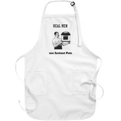 "Men's white apron- ""Real men..IP"