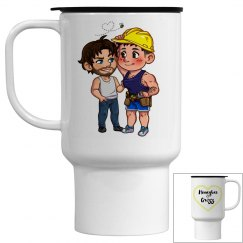 Honeybee and Grizz travel mug