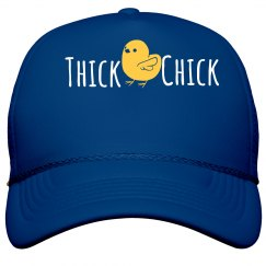 Thick Chick Personalized blue Hat