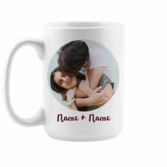 Custom Couple Photo Upload Mug