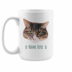 Pet Name Custom Photo Mug