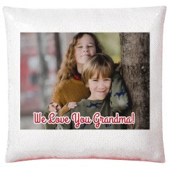 Custom Photo Grandparent Pillow