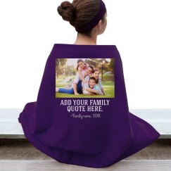 Custom Family Photo & Quote Blanket