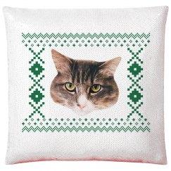 Cat Photo Custom Sequin Pillowcase