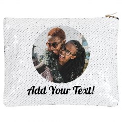 Friends Photo Custom Zip Bag