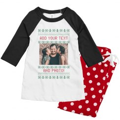Youth Ugly Sweater Pattern Family PJ's